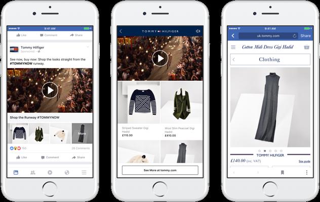 Facebook запускает новый рекламный формат – «Товарные коллекции»
