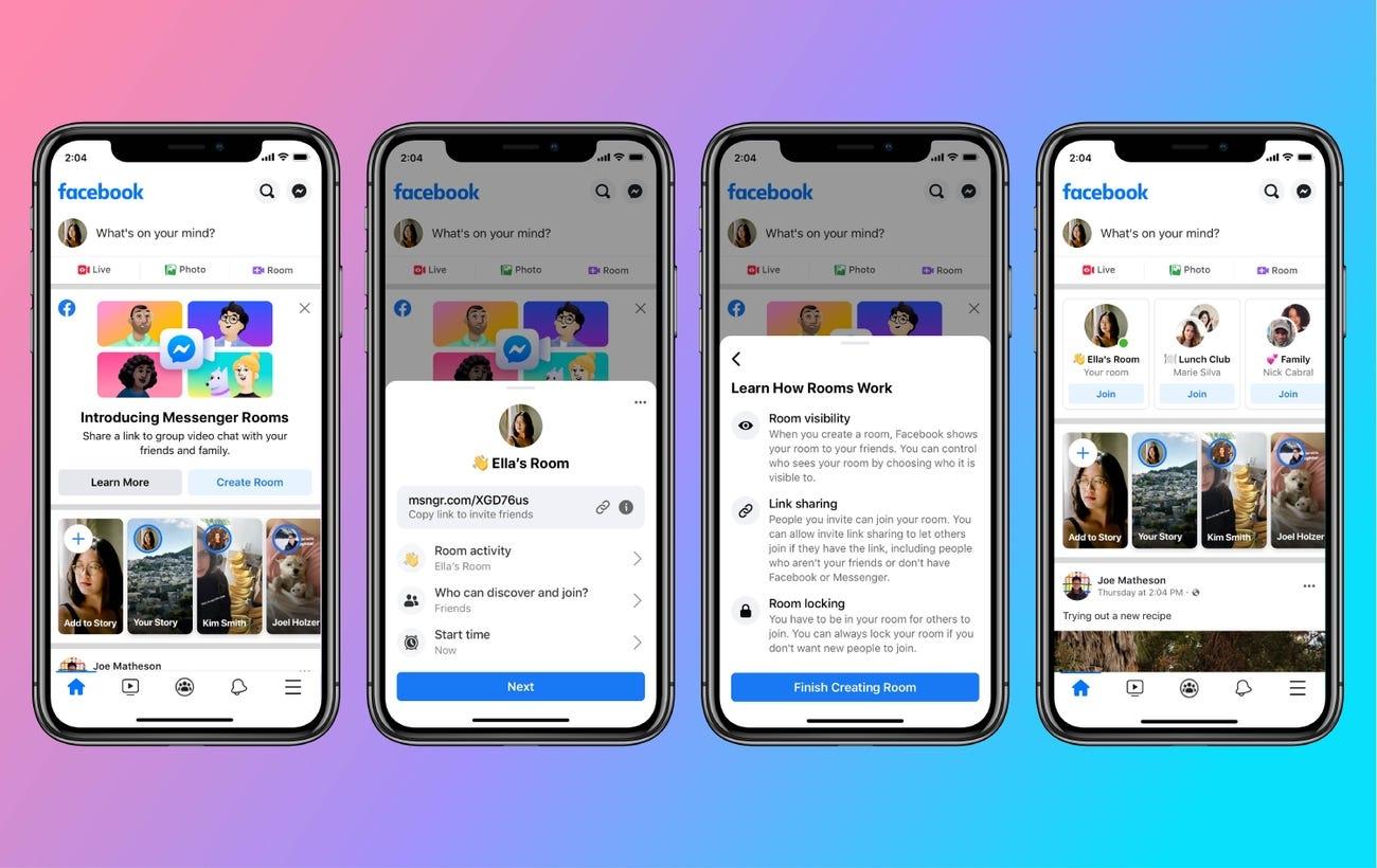 Facebook представив Messenger Rooms – послугу для відеодзвінків